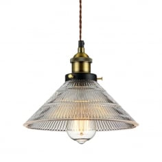 Racer Glass Pendant Light - Clear
