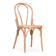 Corbie Wooden Dining Chair with Square Seat - Natural