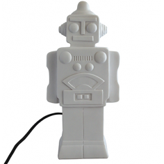 Funky Style LED Robot Table Lamp, White