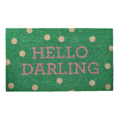 Hello Darling Door Mat - Green