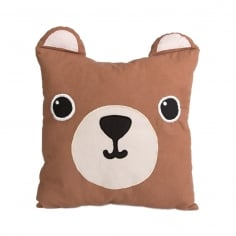 Kawaii Friends Momo Bear Cotton Cushion, Brown