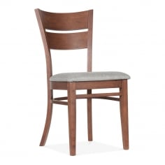 Eavan Wooden Dining Chair - Walnut / Grey