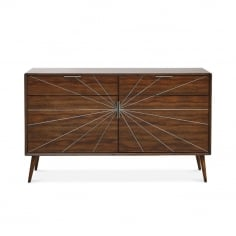 Aspen Small Sideboard, Solid Acacia, Dark Brown