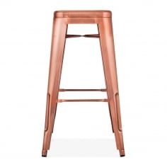 Tolix Style Metal Bar Stool - Copper 75cm