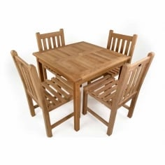 Hampstead 5 Piece Garden Dining Set, Solid Teak