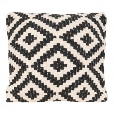 Aztec Woven Cushion, Black and White