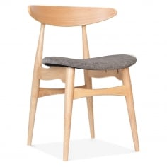 Malmros Upholstered Dining Chair - Natural / Cool Grey