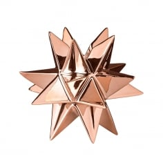 3D Star Ceramic Candlestick Holder, Copper