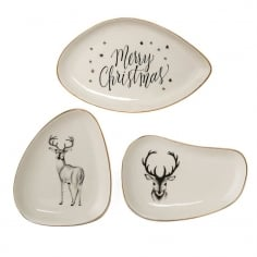 Noel Ceramic Serving Plates, Set of 3