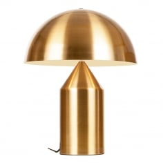 Comet Retro Metal Table Lamp, Gold
