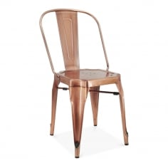 Sander Metal Dining Chair, Light Copper