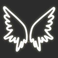 Angel Wings Neon Sign Wall Light, White