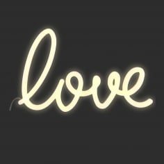 Plastic Love Neon Sign Wall Light, White