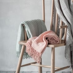 Arla Contemporary Pleated Throw, Blush Pink
