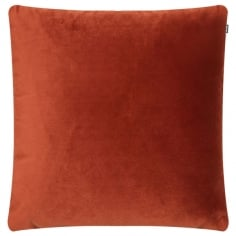 Piped Edge Velvet Fabric Cushion, Paprika Red