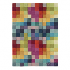 Funk Floor Rug, 100% New Zealand Wool, Rainbow