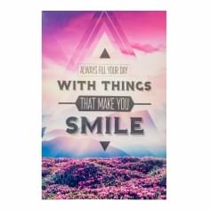 Wall Art Typography Canvas Print, Smile
