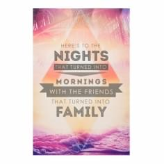 Wall Art Typography Canvas Print, Family