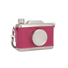 Cool Retro Vintage Camera Design Hip Flask - Hot Pink