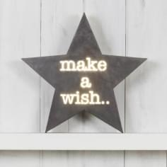 Star Metal Light Box - Make A Wish