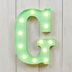"Metal 11"" Mini L.E.D. Letter Lights G - Choice of Colour"