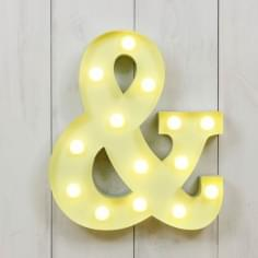 "Metal 11"" Mini L.E.D. Letter Lights & - Choice of Colour"