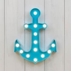 L.E.D. Plastic Anchor Light - Sky Blue