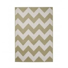 Cottage Zig Zag Synthetic Floor Rug, Olive