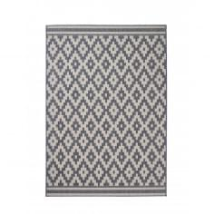 Cottage Diamond Synthetic Floor Rug, Grey