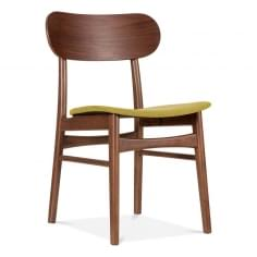 Modernist Upholstered Dining Chair - Olive