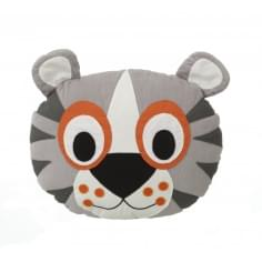 Tiger Head Cotton Cushion