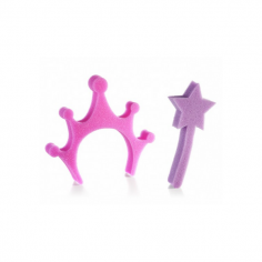 Princess Crown and Wand Set of Bath Sponges