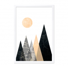 Geometric Graphic Scene Art Framed Print