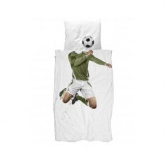 Footballer Single Duvet Set - Green