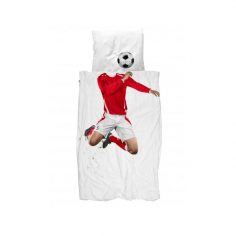 Footballer Single & Double Duvet Set - Red