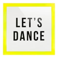 Framed Let's Dance Perspex Print - Yellow