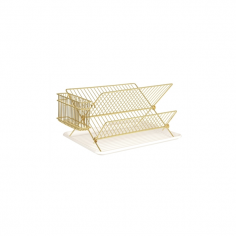 Metal Kitchen Dish Rack - Gold