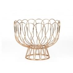 Fruit bowl Wired metal - Copper