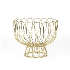 Fruit bowl Wired metal - Gold
