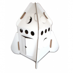 Cardboard Play Rocket, White