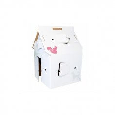 Cardboard Casa Cabana Deco Play House, White