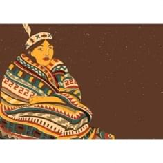 Navajo Lady Framed Print by Harriet Taylor Seed