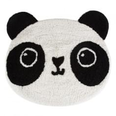 Sass & Belle Kawaii Friends Aiko Panda Cotton Rug - Black