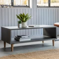 Brooklyn Contemporary Cube Coffee Table, Concrete