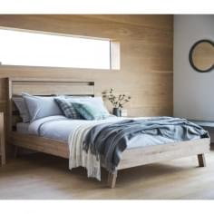 Waldorf Modern King Size Bed Frame, Oak