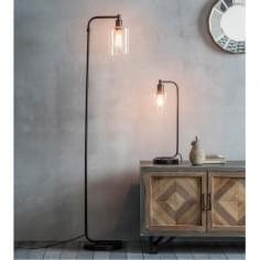 Newton Industrial Metal Standing Floor Lamp, Black