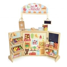 Children's Wooden Play Grocery Store, 30 Pieces