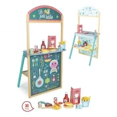Children's Wooden Play Restaurant, 30 Pieces