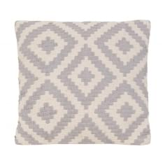 Aztec Woven Cushion, Grey and White