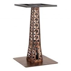 Eiffel Stainless Steel Cafe Table Base, Vintage Brass Finish
